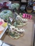 (2) Safari themed candle holders