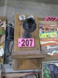 Antique wall crank phone
