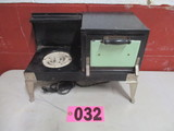 Tin electric child size/salesman sample cookstove