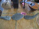3 piece Cast Iron alligator yard ornament