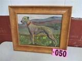Oil on Canvas Greyhound/Whippit,