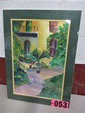 Still Scene matted, 26in x 19in, artist signed Isabel Culbertson 2000