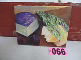 Cheese & Fruit mounted oil on canvas, 14in x 11in