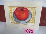 Steak Tomato watercolor, matted,  18in x 14in, artist signed Isabel Culbert