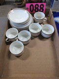 Set of 6 Espresso cups & saucers