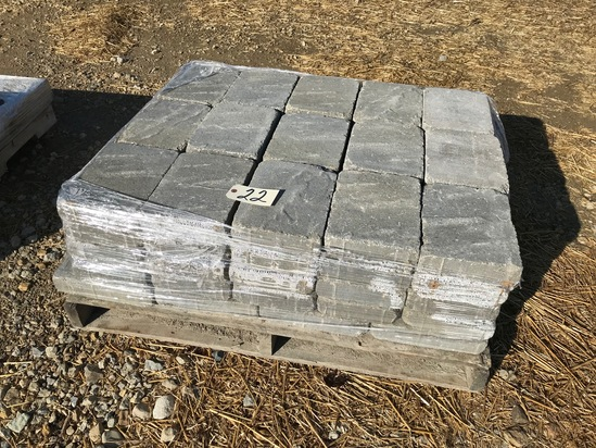 """Pallet of 11"""" x 8"""" pavers"""