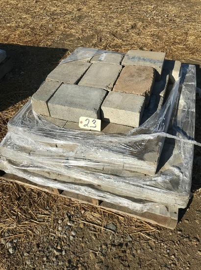 Pallet of mixed pavers