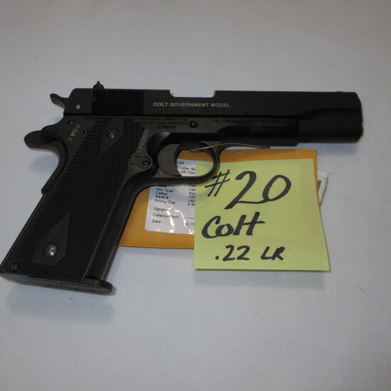 Colt Govt. model 22, semi auto, hand gun w/case-unfired?