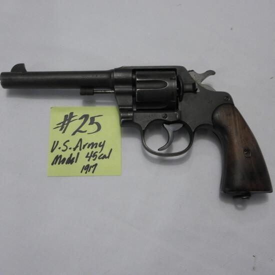 Colt DA.45 US Army model 1917, .45 6 shot revolver