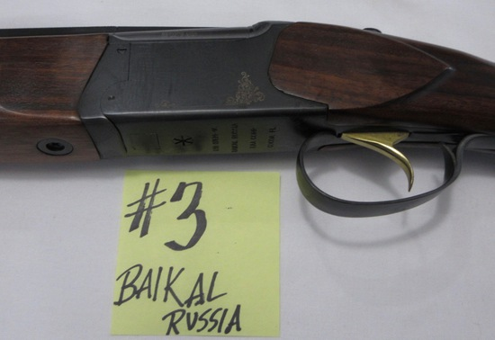 Baikal Russia double barrel over/under-28 GA, Gold Trigger