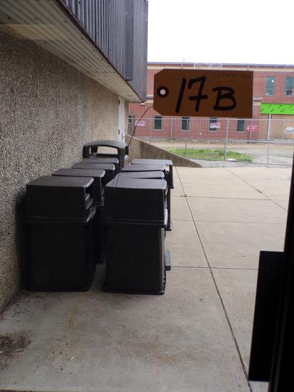 (9) Trash cans