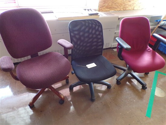 (3) Office chairs (rm 1)