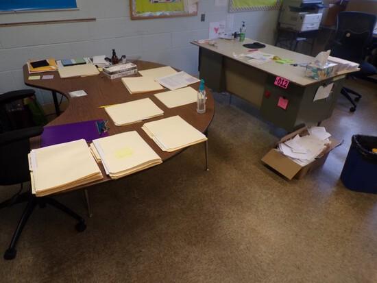 (1) Desk & (1) half round teaching table (Rm 306)