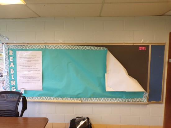 12 ft. Aluminum framed black chalk board (Rm 306)