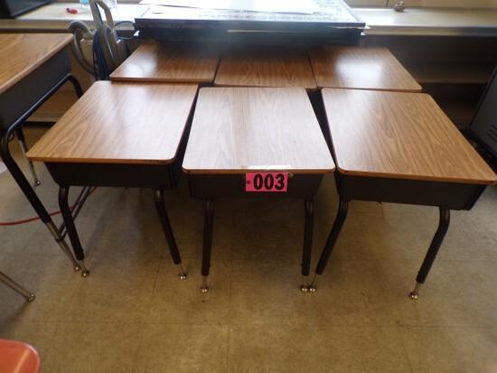 """Approx. (20) Student formica top desks w/ adj. legs 24""""x18"""" (Rm. 307)"""