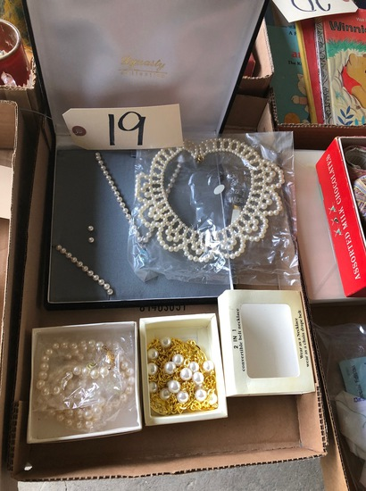 Pearl necklace set and other jewelry