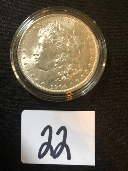 1904-O Morgan silver dollar