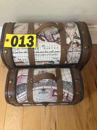 (2) World map treasure boxes - NO SHIPPING NO SHIPPING