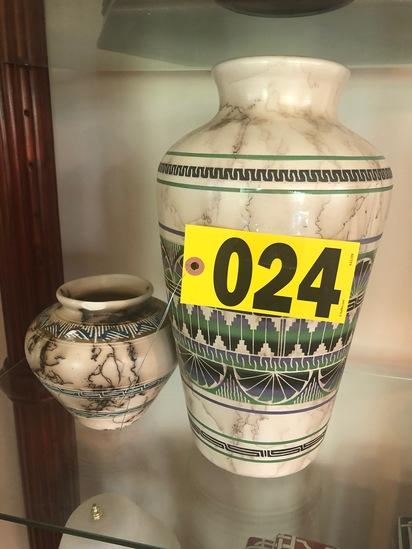 (2) Cameo vases  - NO SHIPPING NO SHIPPING