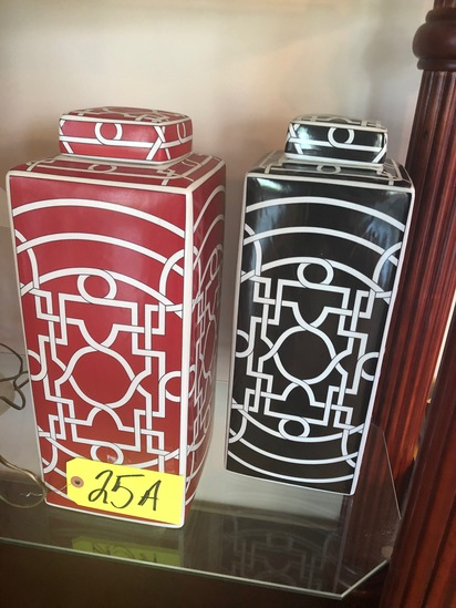 (2) Ceramic jardoniers  - NO SHIPPING NO SHIPPING