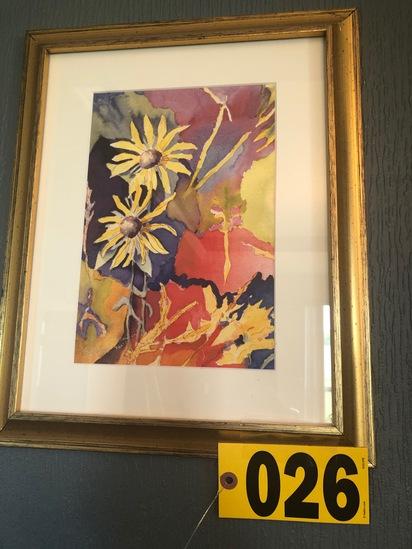 Framed watercolor 2001, 6/150 - Bonnie (?) - NO SHIPPING NO SHIPPING