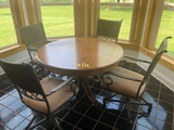 Round dinette set w/ 4 chairs - NO SHIPPING NO SHIPPING