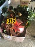 Box of fall décor  NO SHIPPING