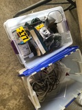 (2) Tubs of electronics & cords  NO SHIPPING