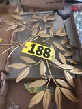 Gold metal leaf art  NO SHIPPING