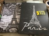 (2) Canvas Paris prints  NO SHIPPING
