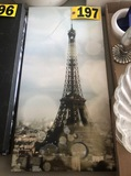 (1) Canvas Paris print  NO SHIPPING