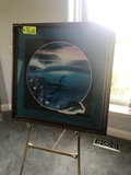 Wyland 1990 framed print w/ brass easel - NO SHIPPING NO SHIPPING