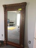Large ornate framed mirror - NO SHIPPING NO SHIPPING