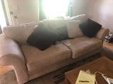 2 Cushion sofa & throew pillows   - NO SHIPPING NO SHIPPING