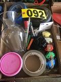 Vase, tape, ribbon, ash tray  - NO SHIPPING NO SHIPPING