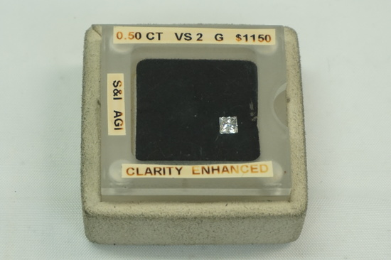 VS2 Clarity Enhanced Diamond (Approx .50tcw)
