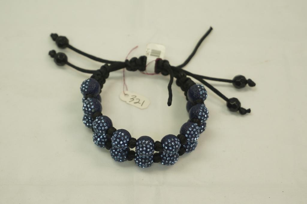 2 Roll Blue Crystal Bracelet