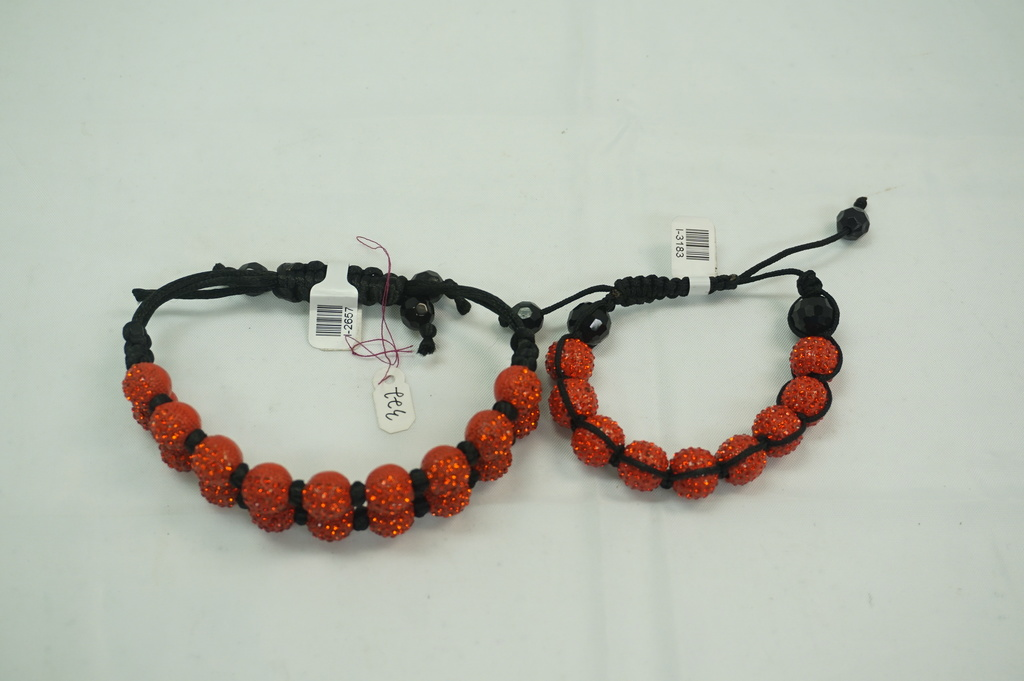 2 Roll and 1 Roll Red Crystal Bracelet