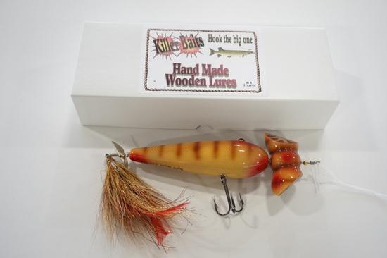 "Killer Baits Rusty Jessee 11/2011 #686 8"" BR Handmade Wooden Lure"