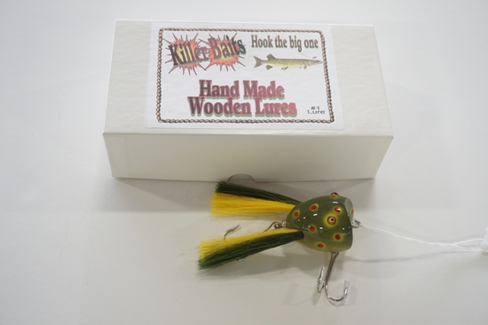"Killer Baits Rusty Jessee 1/2011 #157 2"" Surface Dingbat Handmade Wooden Lure"
