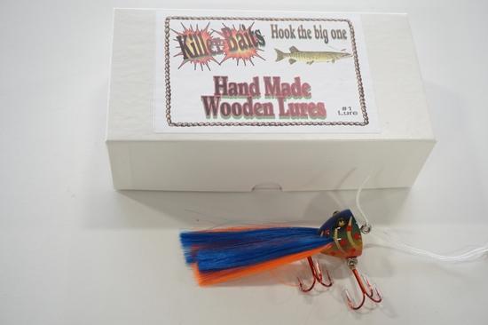 "Killer Baits Rusty Jessee 3/2012 1"" Baby DIngbat Handmade Wooden Lure"