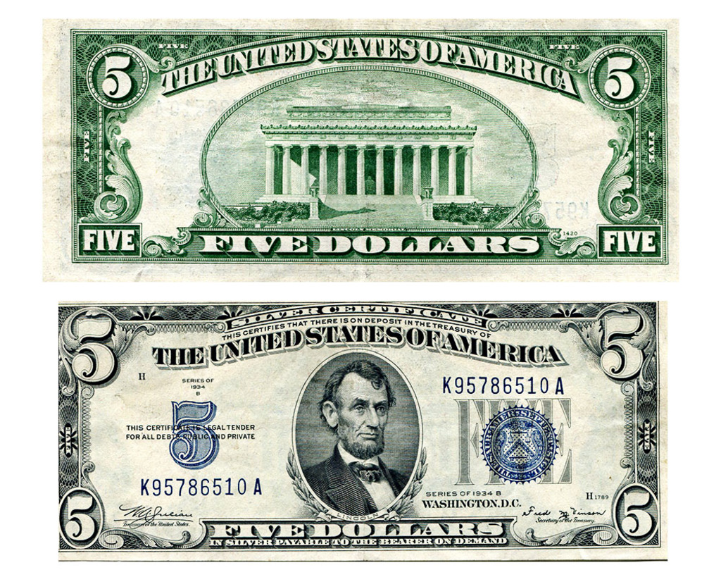5 Silver Certificate Dated 1 Auctions Online Proxibid