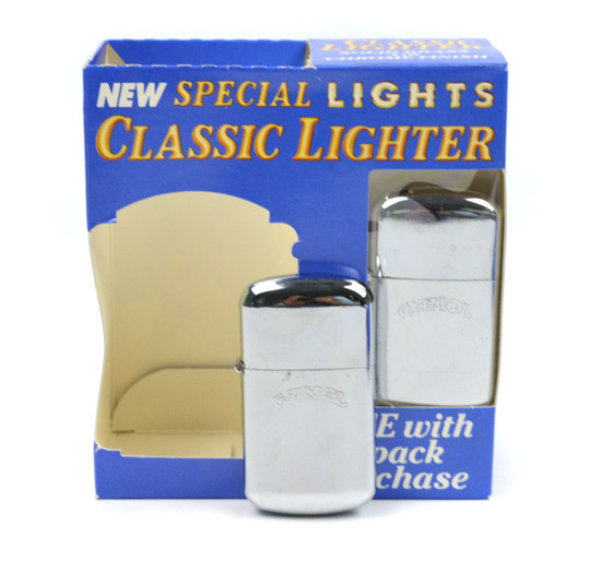 LOT/4 CLASSIC CAMEL ALUMINUM LIGHTER W/ DISPLAY BOXES