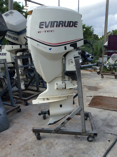 "2007 EVINRUDE ETEC DIRECT INJECTION 150HP OUTBOARD MOTOR E150DCX 25"" SHAFT"