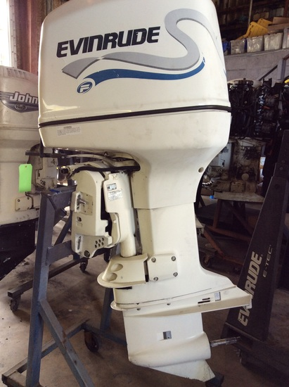 "2000 EVINRUDE 225HP OUTBOARD MOTOR E225FPX 25"" SHAFT"