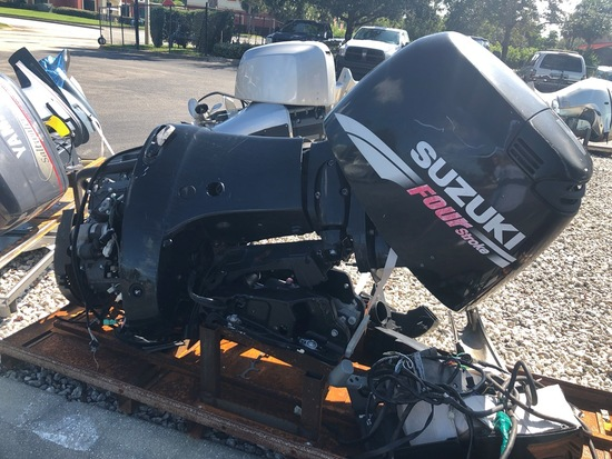 "2001 (APPROXIMATE YEAR) SUZUKI 90HP OUTBOARD PARTS MOTOR DF90 20"" SHAFT"