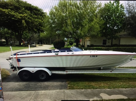 1970 EXCALIBUR 24' TWIN V8 JET BOAT WITH TRAILER