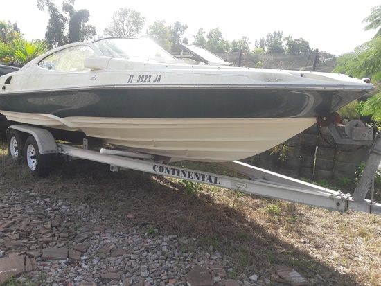 1997 REGAL 21' BOAT GREEN (TRAILER NOT INCLUDED)