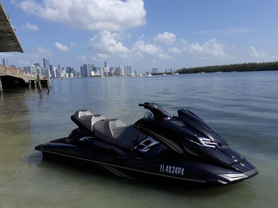 2015 YAMAHA FX HO 3-SEATER CRUISER JETSKI WITH TRAILER