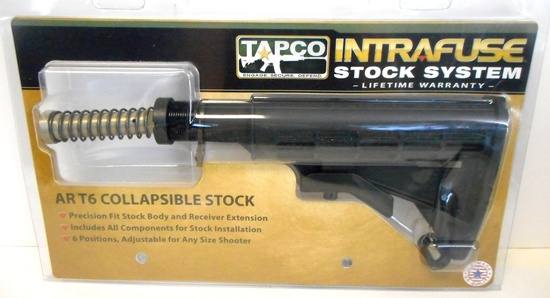 TAPCO INTRAFUSE AR-15 T6 SIX-POSITION STOCK NEW IN PKG.